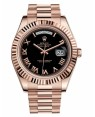 Rolex Day Date II President Rose Or Noir Cadran218235 BKRP