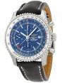 Breitling Navitimer World Chronographe Bleu Cadran Cuir noir Hommes A2432212-C651BKLD