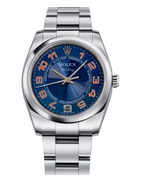 Rolex Air-King Domed Lunette Bleu concentric Cadran114200 BLCAO