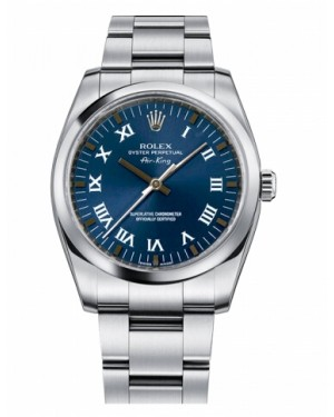 Rolex Air-King Domed Lunette Bleu Cadran114200 BLRO