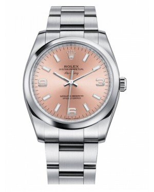 Rolex Air-King Domed Lunette Saumon Rose Cadran114200 PAO