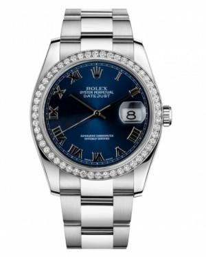 Rolex Datejust 36mm Acier Inoxydable Bleu Cadran116244 BLRO