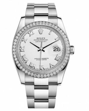 Rolex Datejust 36mm Acier Inoxydable Blanc Cadran116244 WRO