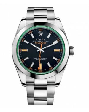 Rolex MilgauAcier Inoxydable Acier Inoxydable Bleu Cadran116400 VBKO