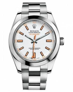 Rolex MilgauAcier Inoxydable Acier Inoxydable Blanc Cadran116400 WO