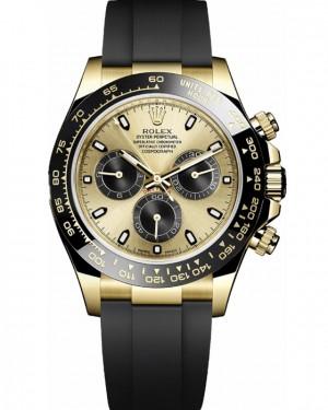 Rolex Daytona Champagne Oysterflex en Caoutchouc Montre Homme 116518LN