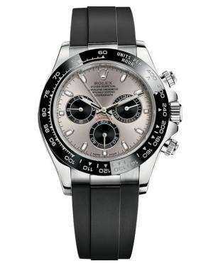 Rolex Daytona Or Blanc Oysterflex en Caoutchouc Montre Homme 116519LN
