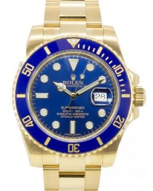 Rolex Submariner Date Jaune Or Bleu Cadran116618LB