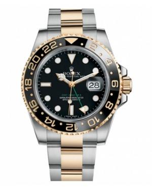 Rolex GMT Master II Acier Inoxydable Et Jaune Or Noir Cadran116713 LN