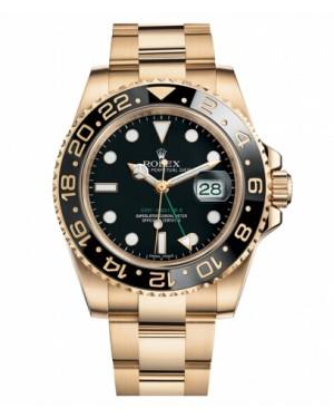 Rolex GMT Master II Jaune Or Noir Cadran116718 BK