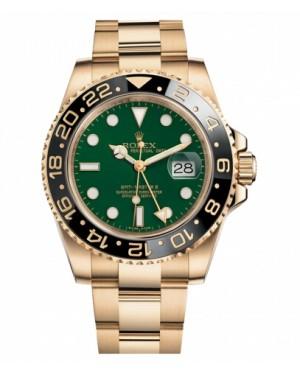 Rolex GMT Master II Jaune Or Vert Cadran116718 G