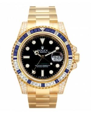 Rolex GMT Master II Jaune Or Noir Cadran116758 SA