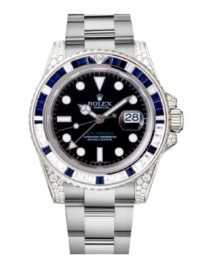 Rolex GMT Master II Blanc Or Noir Cadran116759 SA