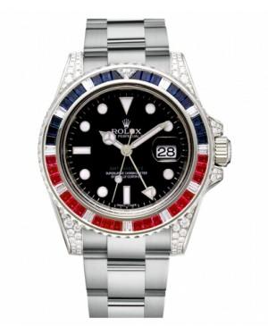 Rolex GMT Master II Blanc Or Noir Cadran116759 SARU