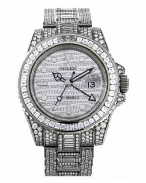 Rolex GMT Master II Blanc Or diamant Cadran116769 TBR