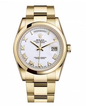 Rolex Day Date Jaune Or Blanc Cadran118208 WRO