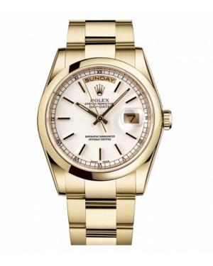 Rolex Day Date Jaune Or Blanc Cadran118208 WSO