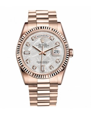 Rolex Day Date Rose Or Meteorite Cadran118235 MTDP