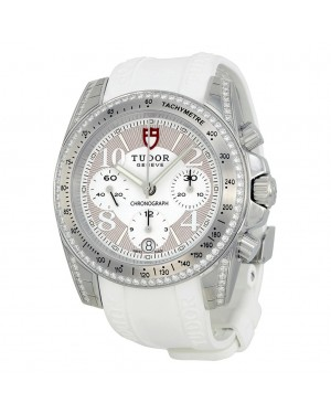 Tudor Chronographe Cadran Diamant Blanc Caoutchouc Dames 20310-WBASWRS