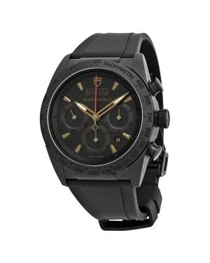 Tudor Blackshield Automatique Chronographe Noir Cadran Noir Caoutchouc Hommes 42000CN-BKRS