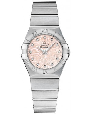 Omega Constellation Brushed Quarz Petite Pluma Dames 123.10.27.60.57.002