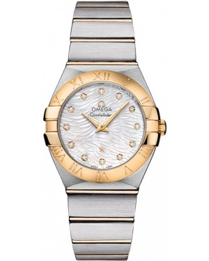 Omega Constellation Brushed Quarz Petite Pluma Dames 123.20.27.60.55.008