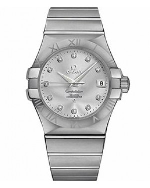 Omega Constellation 35mm Automatique Co-Axial Cadran Argente Hommes 123.10.35.20.52.001