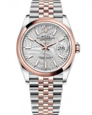 Rolex Datejust 36 Cadran Palmier Argent Bicolore Montre 126201-0031