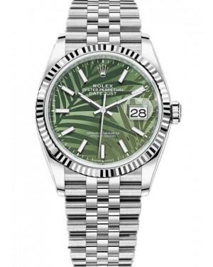 Rolex Datejust 36mm Cadran Vert Palm Montre 126234-0047