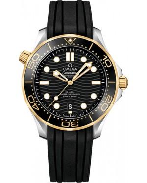 Omega Seamaster Diver 300m Montre Acier Et Or Jaune Homme 210.22.42.20.01.001