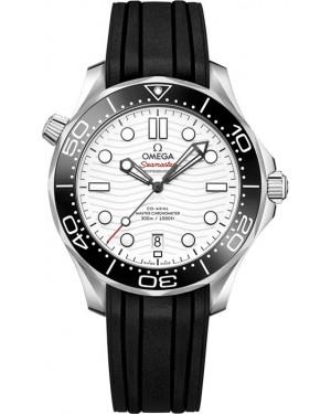Omega Seamaster Diver 300m Blanc Montre Homme 210.32.42.20.04.001