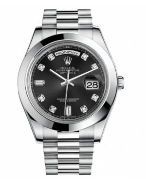 Rolex Day Date II President Platine Noir Cadran218206 BKDP