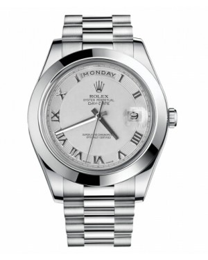 Rolex Day Date II President Platine Ivory concentric circle Cadran218206 ICRP