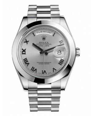 Rolex Day Date II President Platine Rhodium Cadran218206 RRP