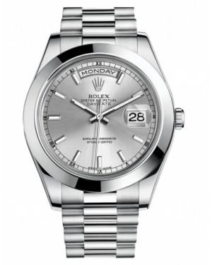 Rolex Day Date II President Platine Argent Cadran218206 SIP