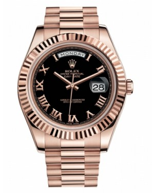 Rolex Day Date II President Rose Or Noir Cadran218235 BKRP