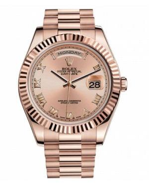 Rolex Day Date II President Rose Or Champagne Cadran218235 CHRP