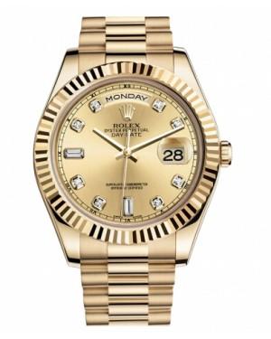 Rolex Day Date II President Jaune Or Chamapgne Cadran218238 CHDP