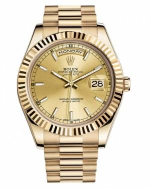 Rolex Day Date II President Jaune Or Chamapgne Cadran218238 CHIP