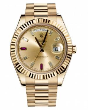 Rolex Day Date II President Jaune Or Champagne Cadran218238 CHRDP