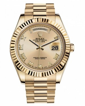 Rolex Day Date II President Jaune Or Chamapgne Cadran218238 CHRP