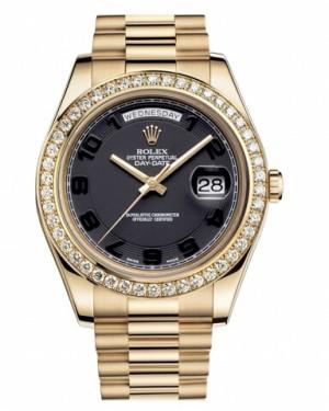 Rolex Day Date II President Jaune Or Noir concentric Cadran218348 BKCAP