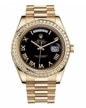 Rolex Day Date II President Jaune Or Noir Cadran218348 BKRP