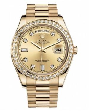 Rolex Day Date II President Jaune Or Chamapgne Cadran218348 CHDP