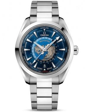 Omega Seamaster Aqua Terra Worldtimer Acier Inoxydable Montre Homme 220.10.43.22.03.001