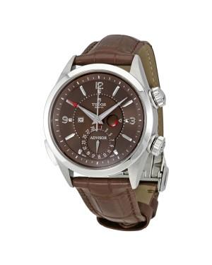 Tudor Heritage Advisor Cognac Cadran Hommes Alarm 79620TC-BRLS