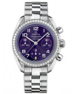 Omega Speedmaster 38mm Automatique Chronometer Purple Dial Dames 324.15.38.40.10.001