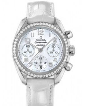 Omega Speedmaster 38mm Automatique Chronometer Blanc Mere de Perle Dames 324.18.38.40.05.001