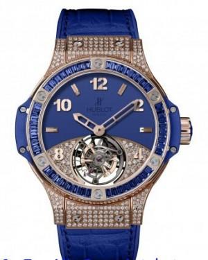 Replique Hublot Big Bang Tutti Frutti Tourbillon Dark Blue Pave 345.PL.5190.LR.0901