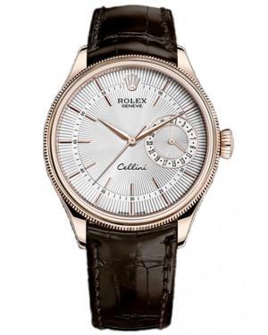 Rolex Cellini Date Everose Gold Argente Homme 50515